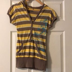 FREE GIFT | Billabong Striped Tee with Hood S